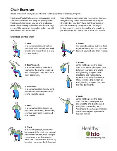 Chair Exercise Low Level Effort Great Start Healthaware