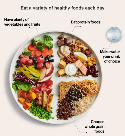 eat a variety of healthy foods each day