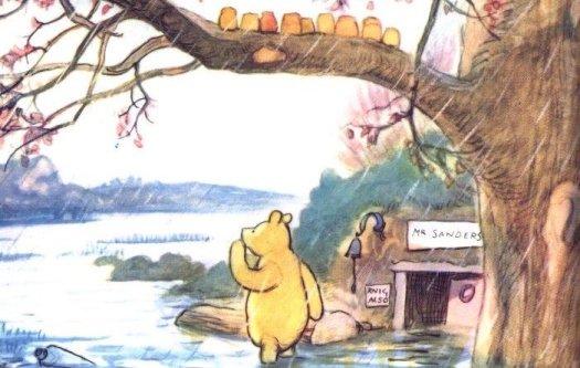 pooh it rained